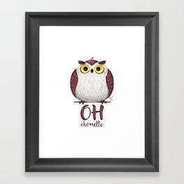 Oh chouette ! Framed Art Print