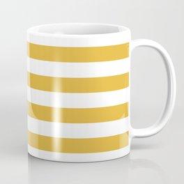 Mustard Yellow Horizontal Stripes Coffee Mug