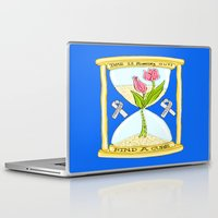 the cure Laptop & iPad Skins featuring Parkinson's Find a Cure by J&C Creations