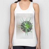 succulent Tank Tops featuring Succulent by OldRedCanoe