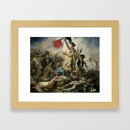 Liberty Leading the People (High Resolution) Framed Art Print