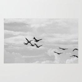Wild Geese Flying In the Sky Rug
