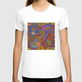 Kuna Indian Mola Traffic Jam T-shirt