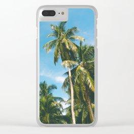 Palms Trees on the San Blas Islands, Panama Clear iPhone Case