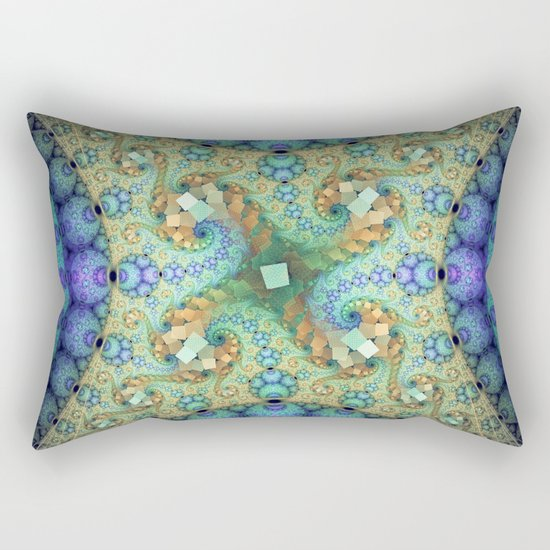 Never ending patterns with spirals and orbs Rectangular Pillow