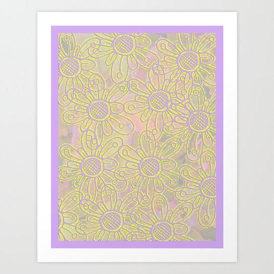 Flowers lila Art Print