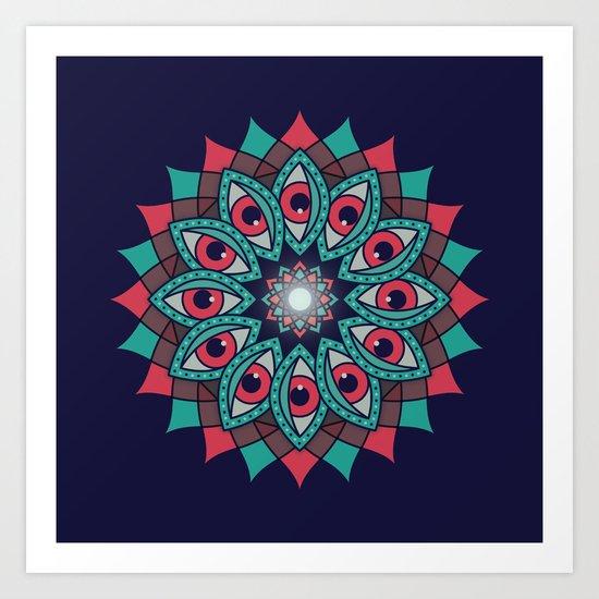 Bali Eyes - Night Variation Art Print