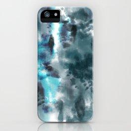 Neon Turquoise Tie-Dye iPhone Case