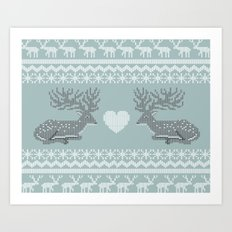 Dear & Love Art Print