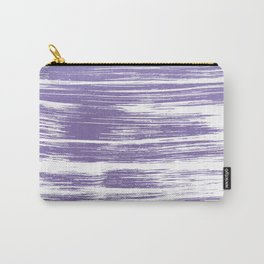 Modern abstract lilac lavender white watercolor brushstrokes Carry-All Pouch