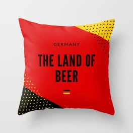 Germany the Land of Beer Throw Pillow
