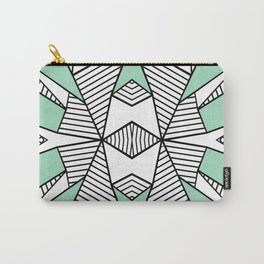 Triangle Tribal Mint Carry-All Pouch