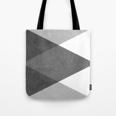 black and white triangles Tote Bag