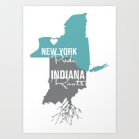 New York Pride, Indiana Roots Art Print