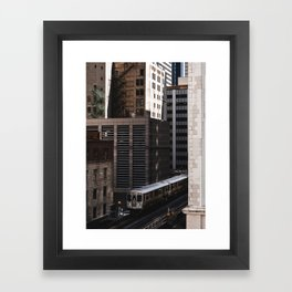 Orange Line Framed Art Print