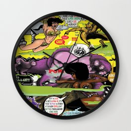 Space Chick & Nympho: Vampire Warrior Party Girl Comix #2 - Comic Book Cover Wall Clock