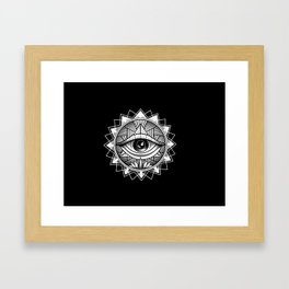 The All Seeing One Framed Art Print