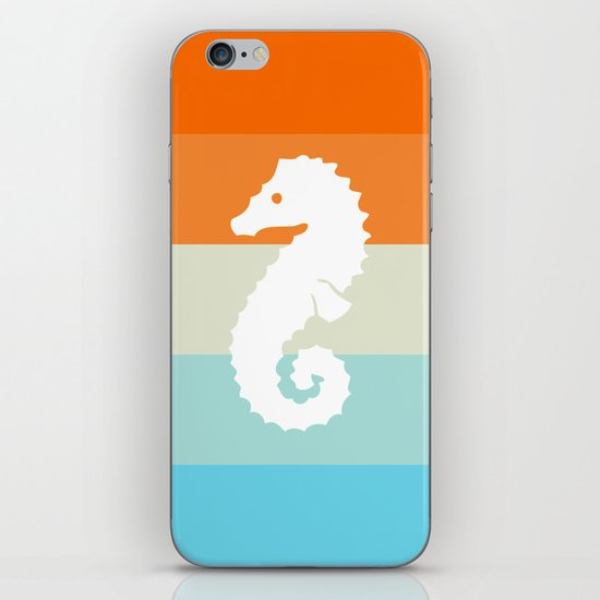 Out At Sea Series - Seahorse Sunset iPhone & iPod Skin
