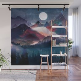 Mountain Lake Under the Stars Wall Mural