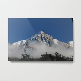 The Mont Blanc and Fog Metal Print