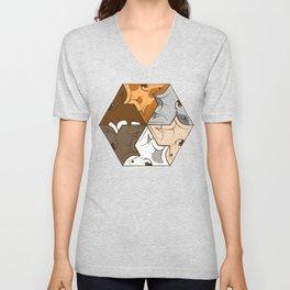 Happy puppies pattern Unisex V-Neck