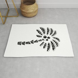 Tribal Palm Tree Rug