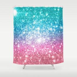 Mermaid Galaxy Sparkle Stars Shower Curtain