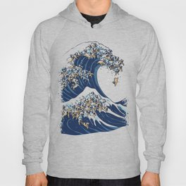 The Great Wave of Pug Hoody