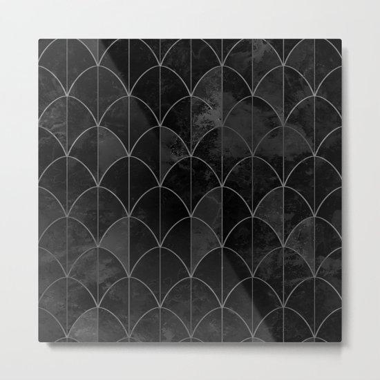 Mermaid scales in black and white. Metal Print