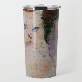 White Cats Travel Mug