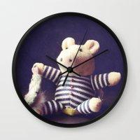 hug Wall Clocks featuring Hug by Sybille Sterk