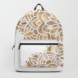Mandala Multi Metallic in Gold Silver Bronze Copper Backpack