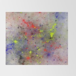 Primary Space Throw Blanket