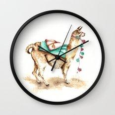 Watercolor Llama Wall Clock