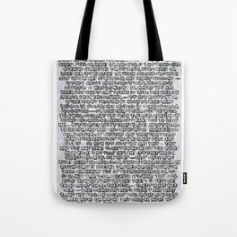 Artist's Statement Tote Bag