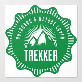 Outdoors & Nature Lover Trekker Canvas Print
