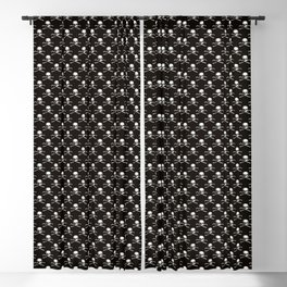 Skull and Crossbones | Jolly Roger | Pirate Flag | Black and White | Blackout Curtain