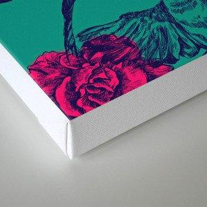 Rose & Swallows Canvas Print