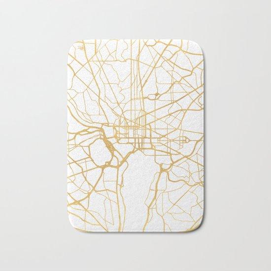 WASHINGTON D.C. DISTRICT OF COLUMBIA CITY STREET MAP ART Bath Mat
