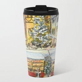 Christmas market in Rothenburg, Germany Travel Mug