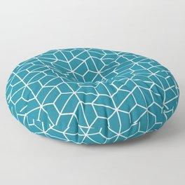 Blue hexagons Floor Pillow