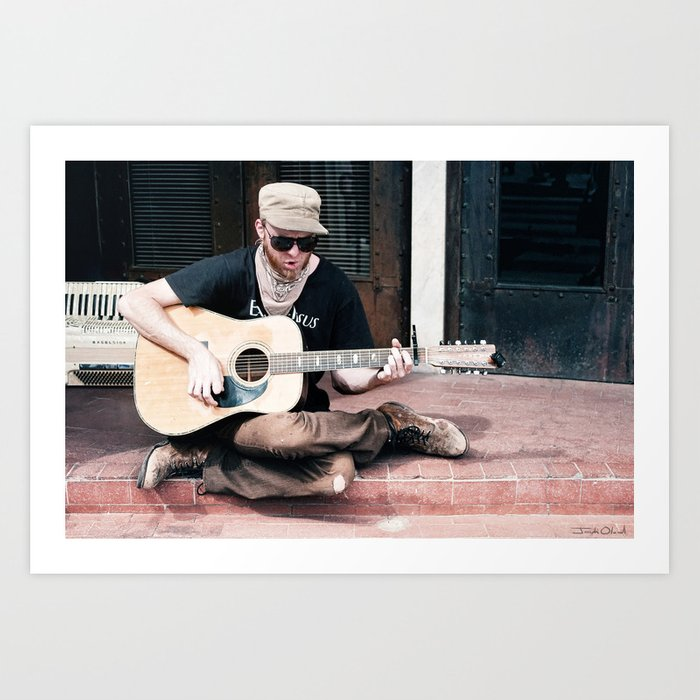 Flip Cassidy - Vagabond Guitar Song Man Art Print