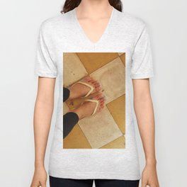 Footsteps in Tuol Sleng Unisex V-Neck
