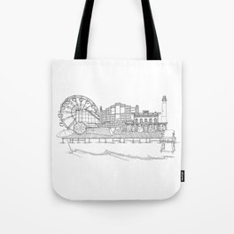 The Jersey Shore by the Downtown Doodler Tote Bag