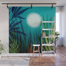 Midnight In The Jungle Wall Mural