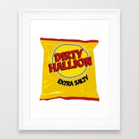 hallion Framed Art Prints featuring DIRTY HALLION by SPECIALITEES