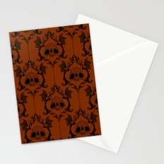 Halloween Damask Rust Stationery Cards