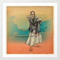 samurai Art Prints featuring Samurai by David Finley