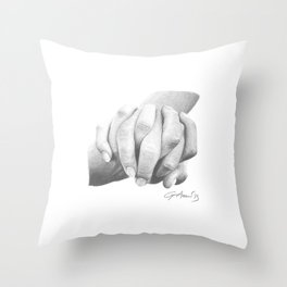 Insieme / Together - Hand Holding or Holding Hands Throw Pillow