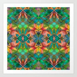 Floral Fractal Art G23 Art Print
